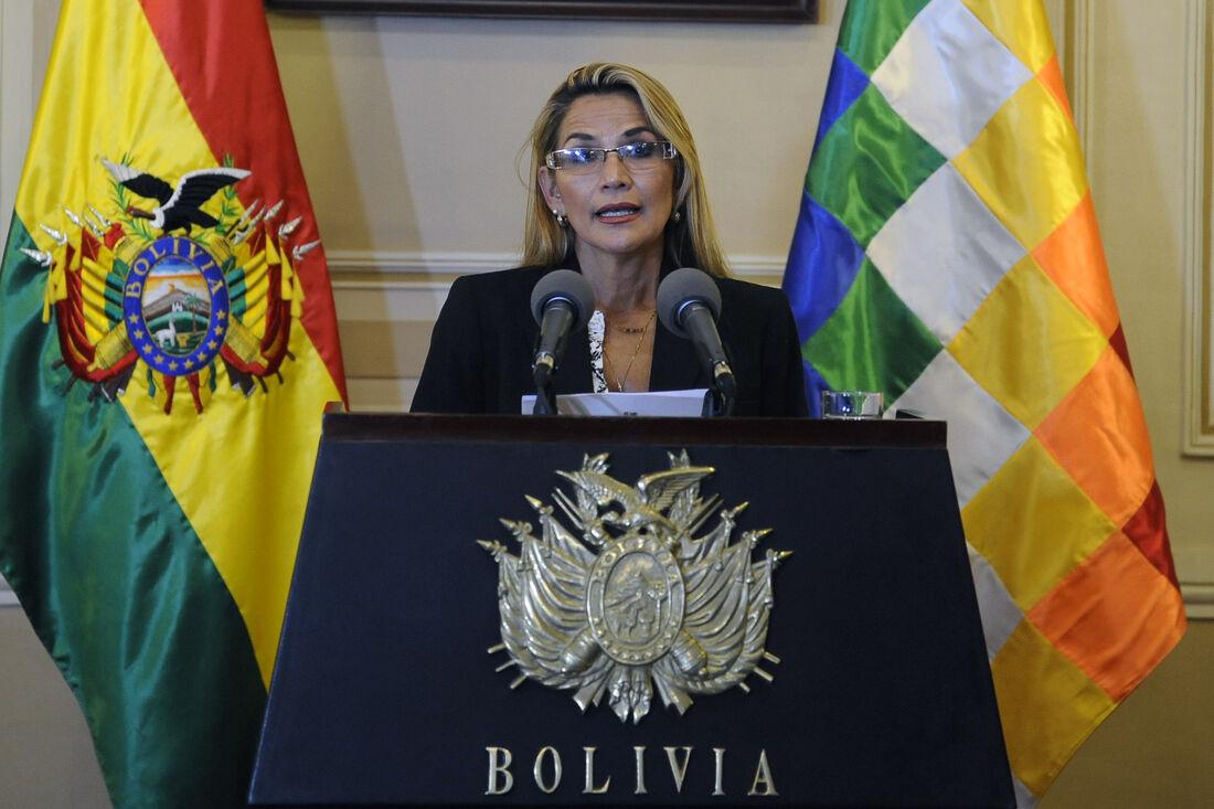 Presidente da Bolívia Jeanine Áñez