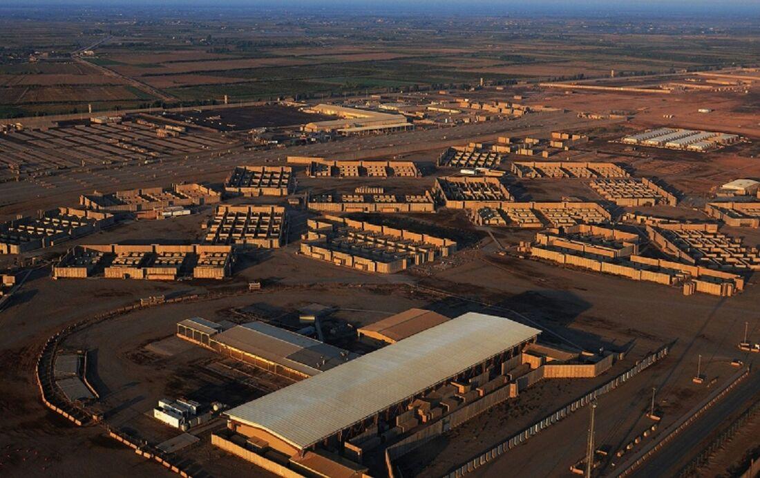 Vista aérea da base de Balad, no Iraque
