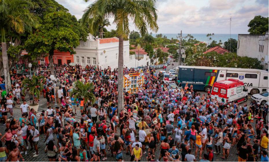 Prévias carnavalescas em Olinda