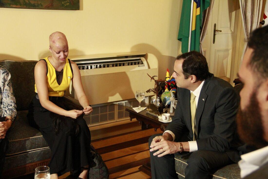 Débora participou de reunião com o governador Paulo Câmara