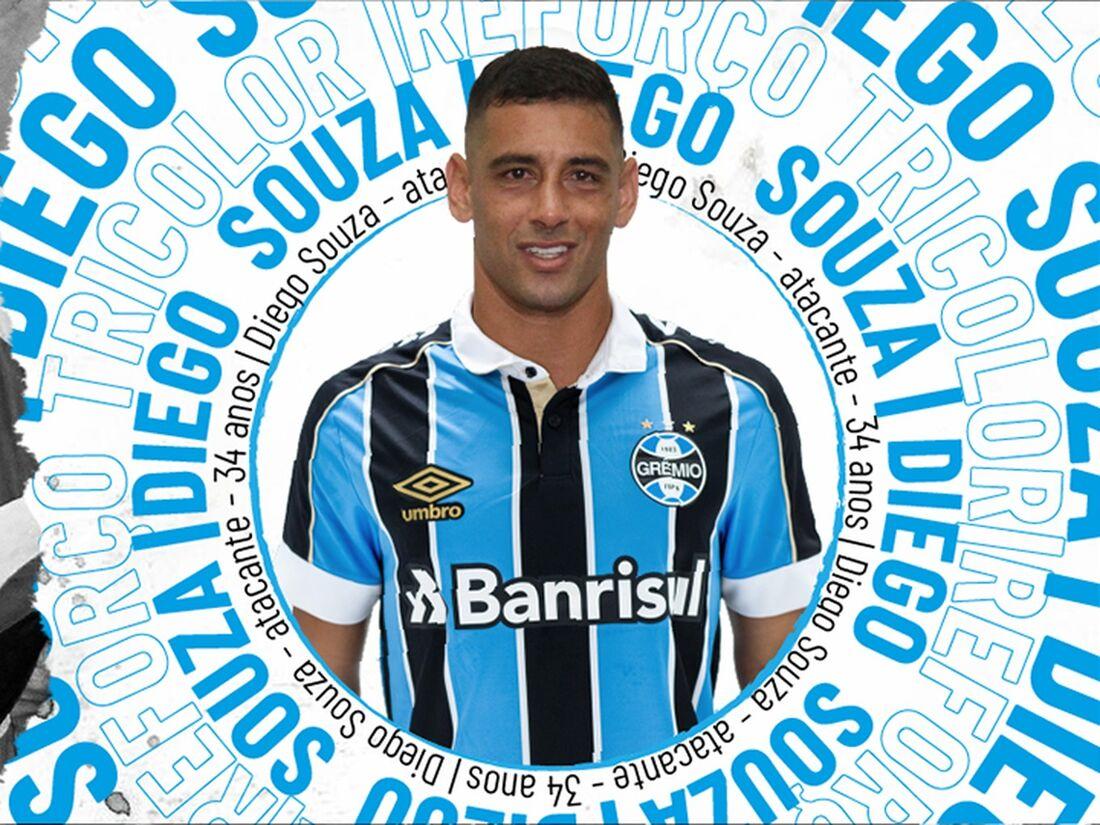 Diego Souza, novo atacante do Grêmio