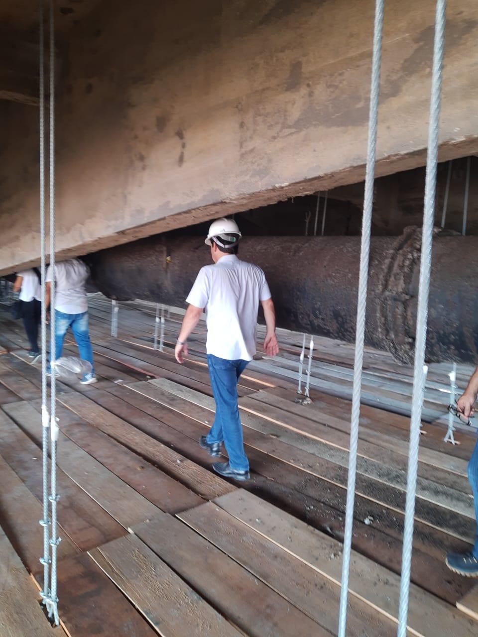 Visita do Prefeito de Geraldo Julio na Ponte Motocolombó