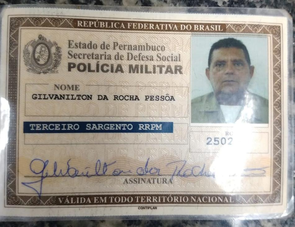 Sargento Gilvanilton da Rocha Pessôa, de 59 anos, morreu no HR