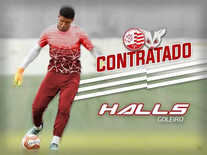Vindo por empréstimo, goleiro Halls assinou com o Timbu até o fim de 2020