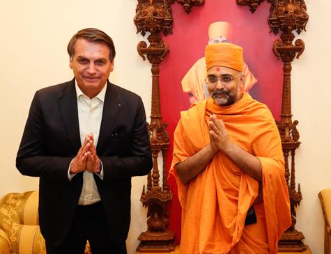 Bolsonaro em visita à Índia