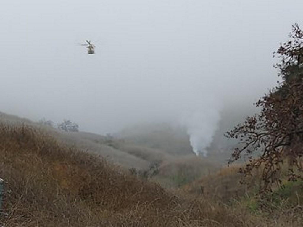 Helicóptero caiu em Calabasas, no estado da Califórnia