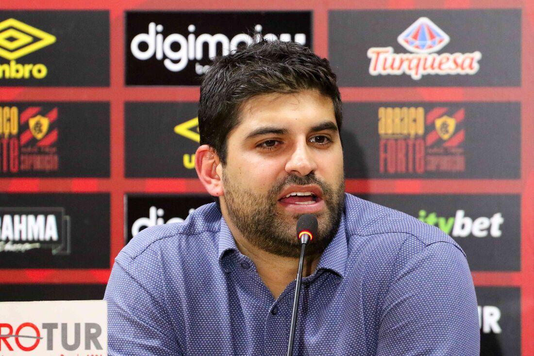 Lucas Drubscky, executivo de futebol do Sport