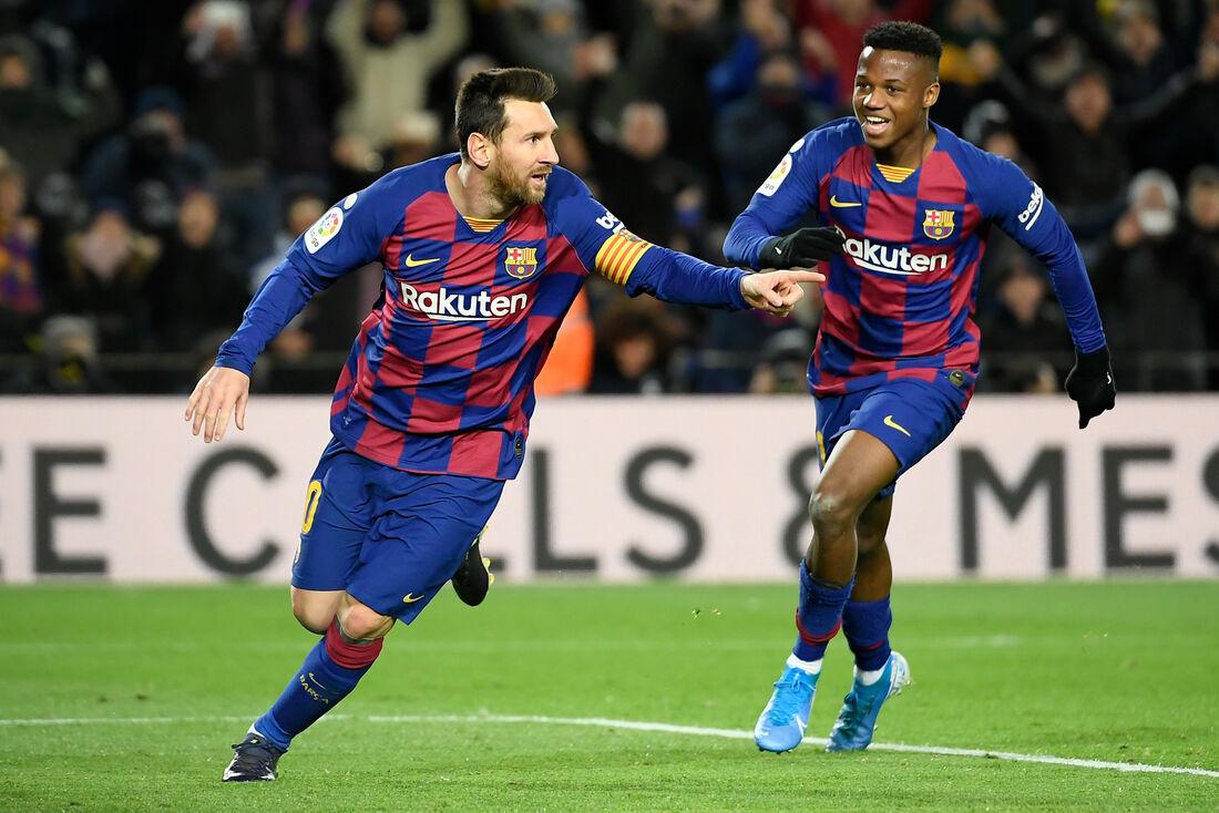 Messi, atacante do Barcelona
