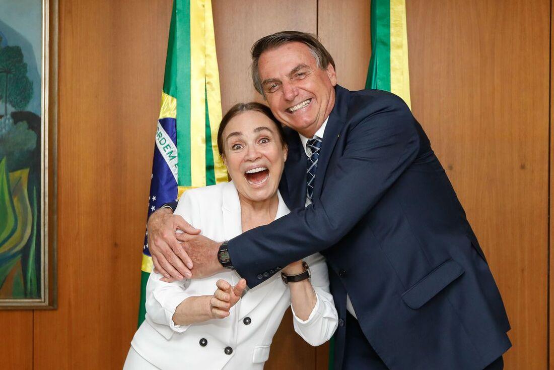 Regina Duarte e Bolsonaro
