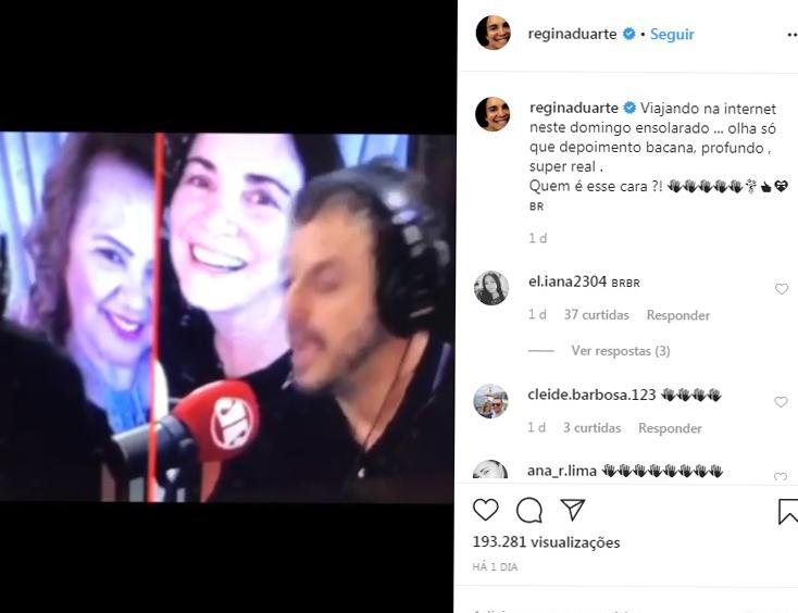 Vídeo publicado por Regina Duarte