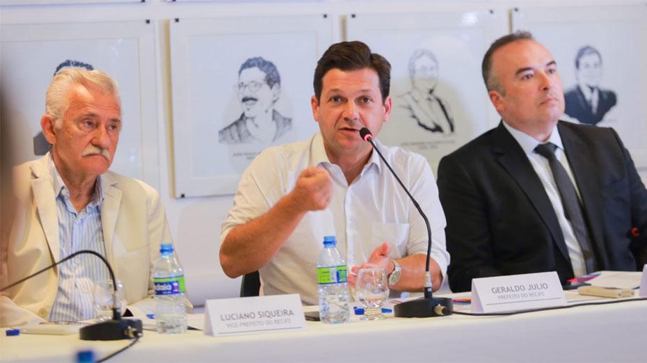 Geraldo Julio em reunião do secretariado no início deste ano de 2020