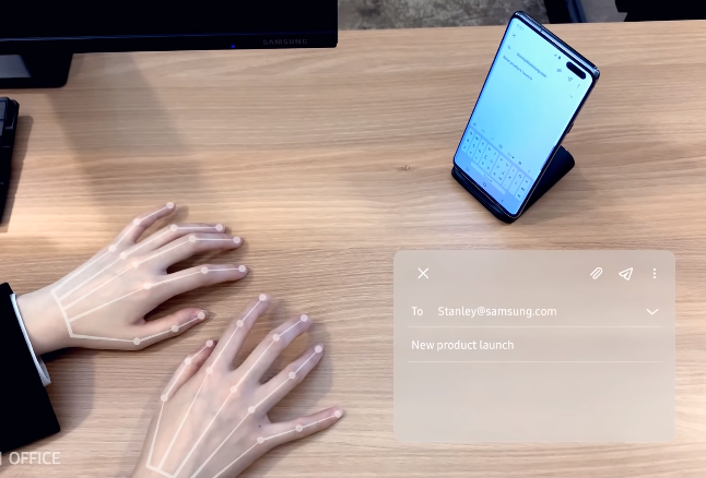 SelfieType, teclado invisível da Samsung