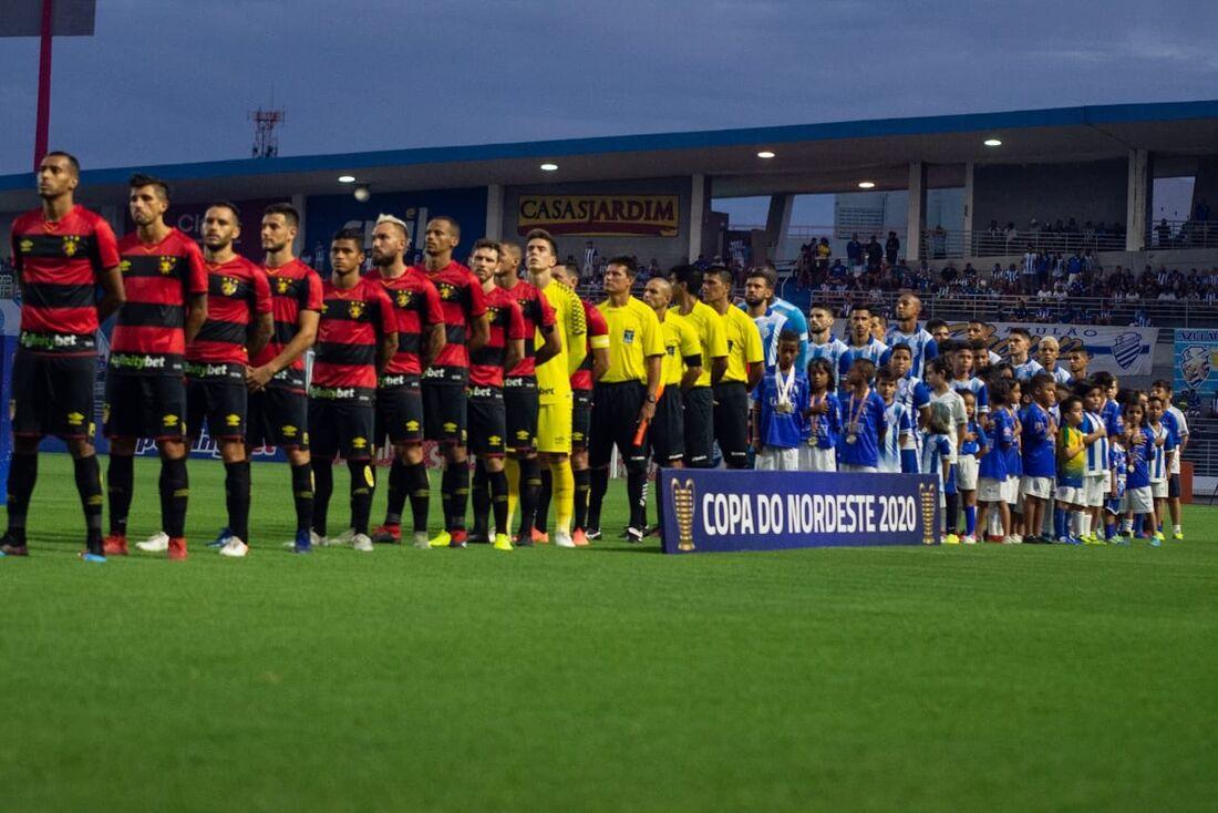 Sport comemora gol na Copinha