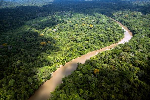 Vista das grandes extensões da Amazônia