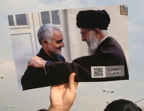 Qassem Soleimani com o aiatolá Ali Khamenei