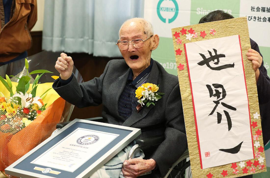 Homem mais velho do mundo morre no Japão