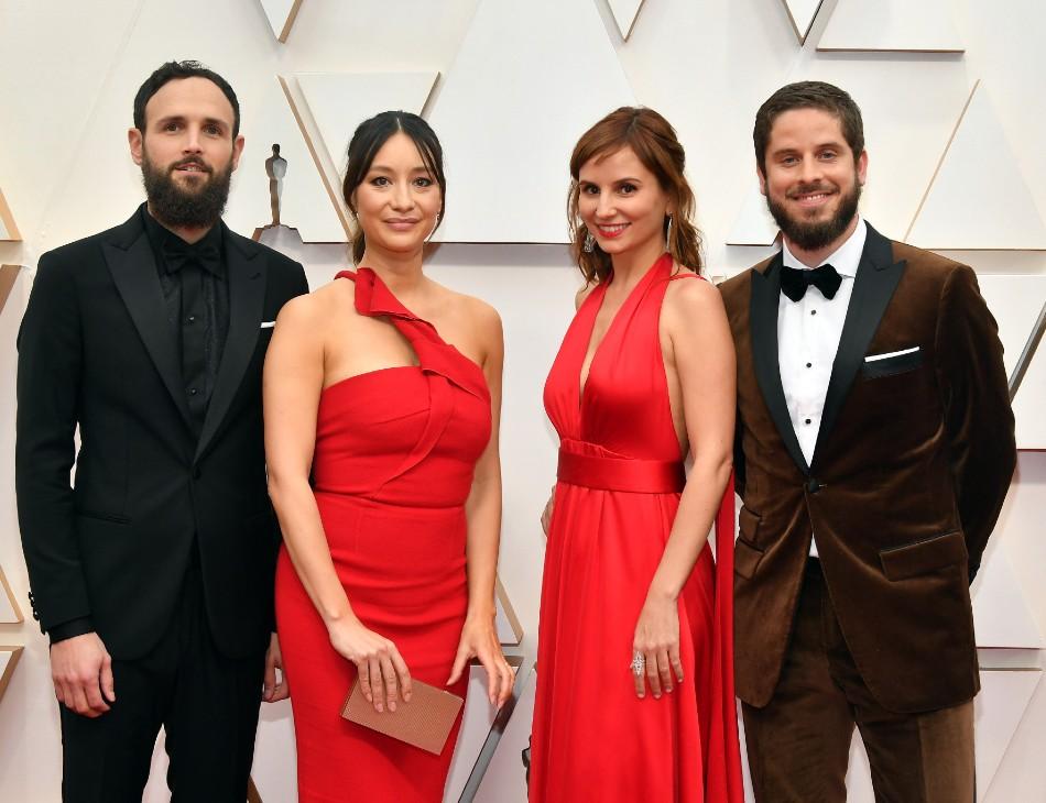 """Equipe do filme """"Democracia em Vertigem"""" na cerimônia do Oscar"""