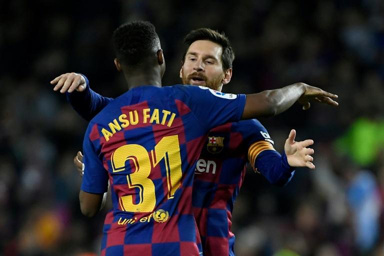 Messi deu duas assistências para Ansu Fati
