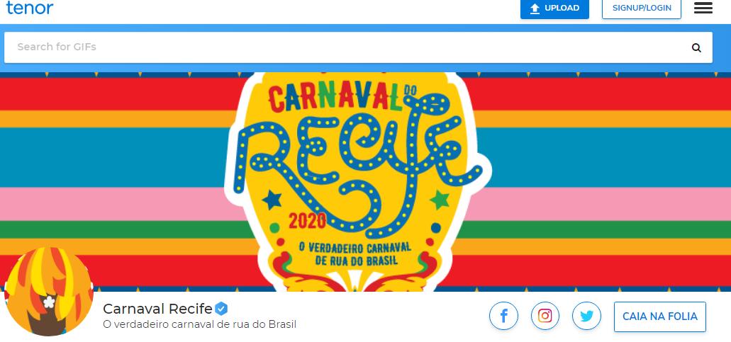 Carnaval do Recife no Tenor, do Google