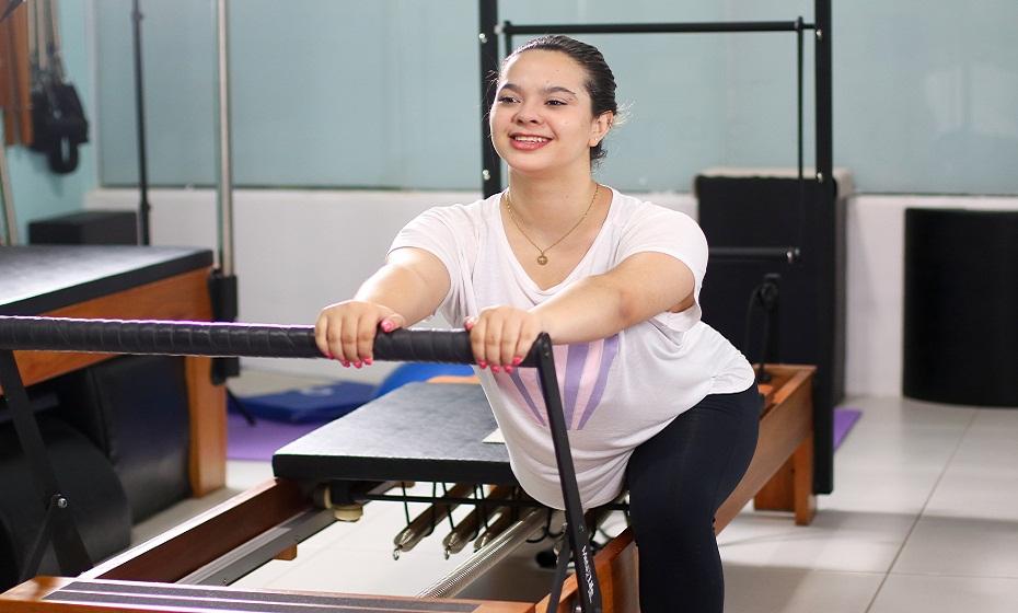 Estudante e praticante de pilates Ana Adalgisa Dornelas, 19 anos