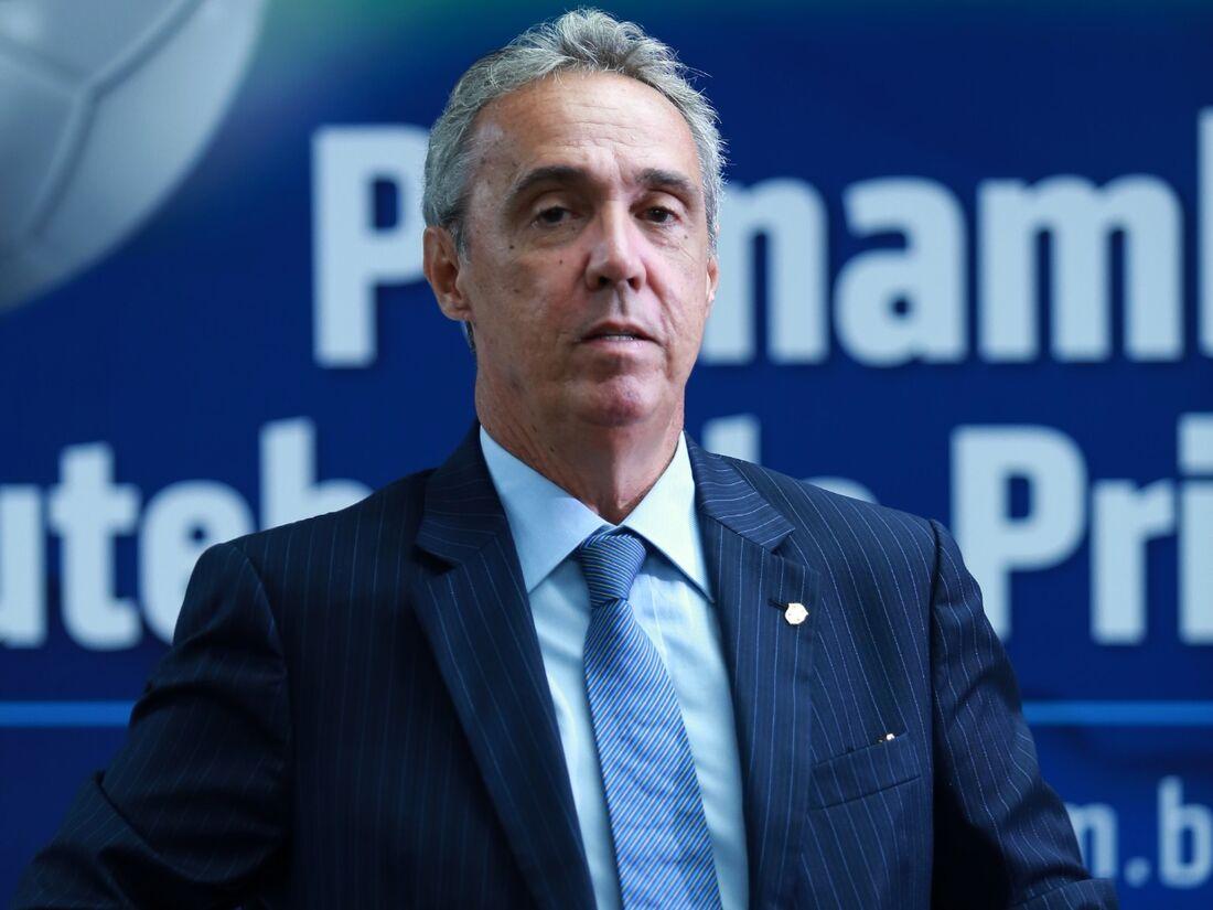 Evandro Carvalho, presidente da FPF