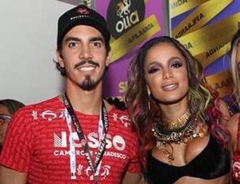 Anitta e suposto novo namorado Gabriel David