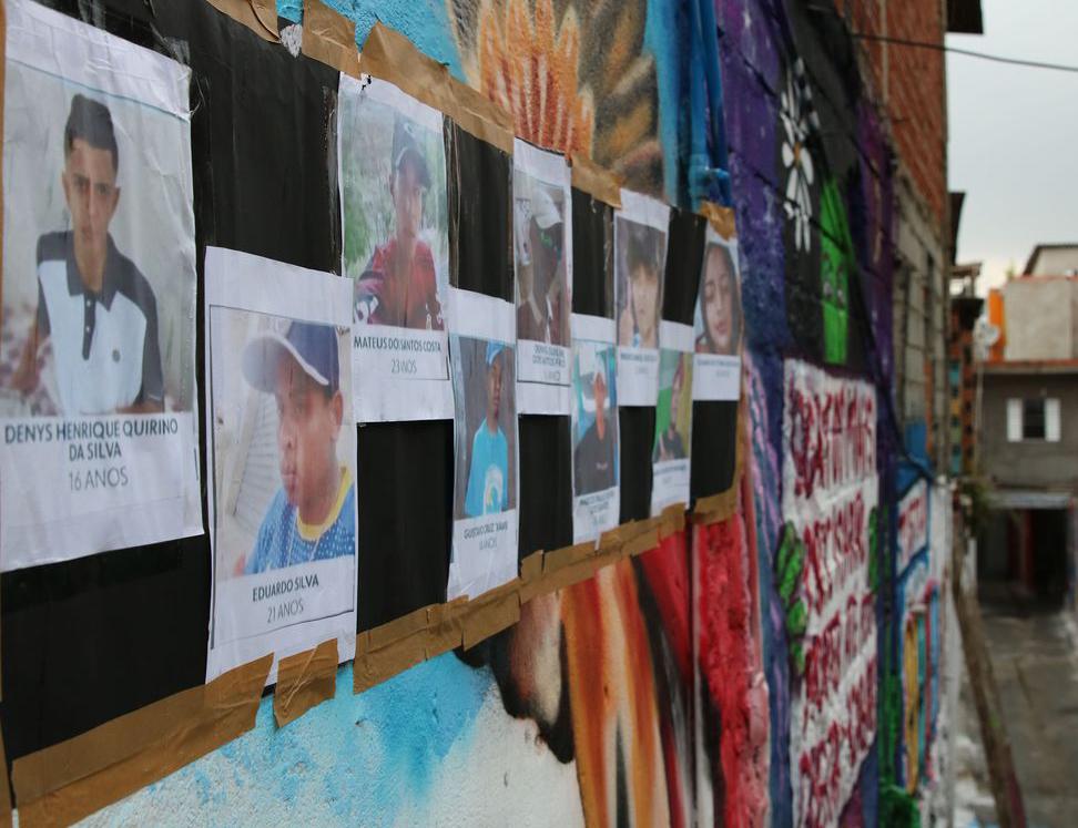 Retrato de vítimas em Paraisópolis