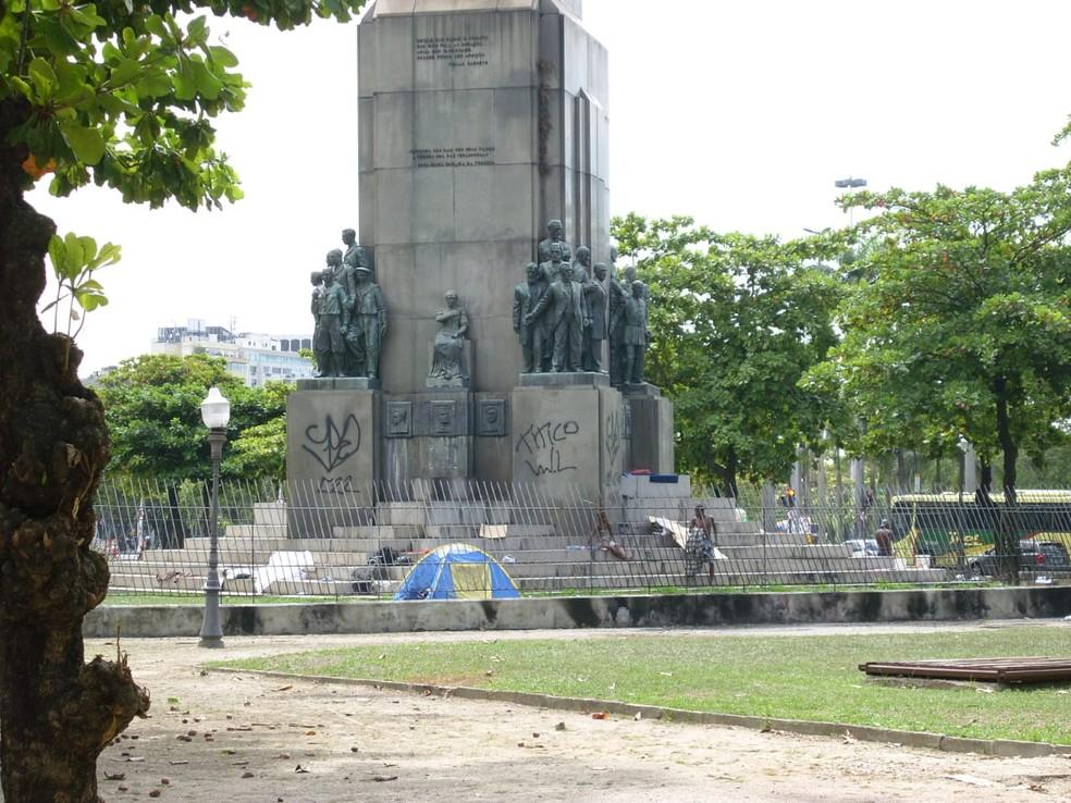 Monumento em homenagem ao Marechal Deodoro da Fonseca, na Glória, zona sul do Rio de Janeiro