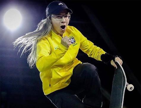 Pâmela Rosa, campeã mundial de skate