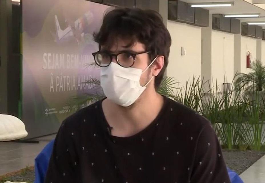 Vitor Campos Siqueira, de 28 anos, é um dos repatriados