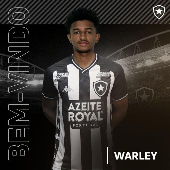 Warley foi oficializado pelo Botafogo nesta quinta-feira