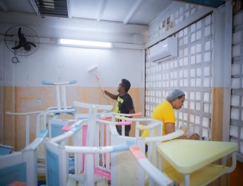 Ação no Centro Norma Coelho, em Olinda, contou com a participação de 30 voluntários