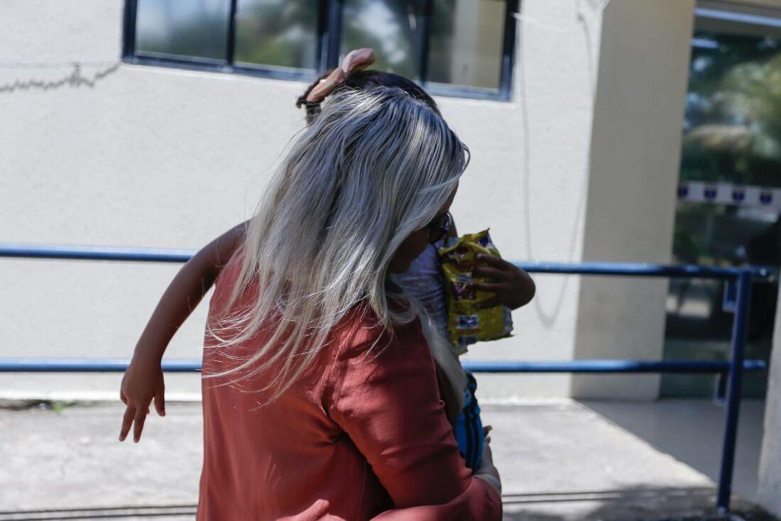 A menina foi resgatada pela delegada da DPCA, Vilaneide Aguiar
