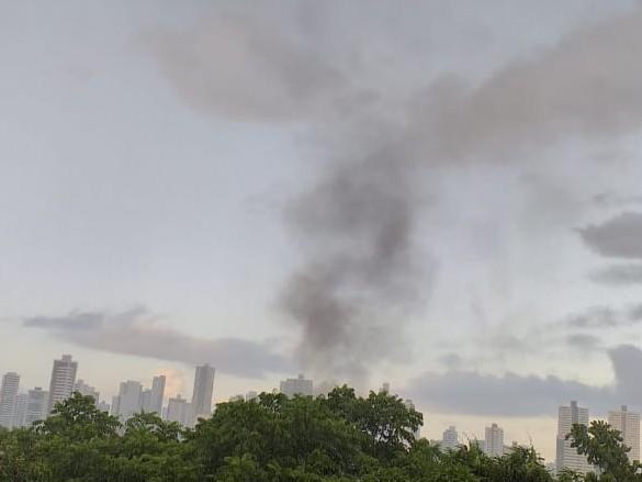 Incêndio no bairro de Campo Grande