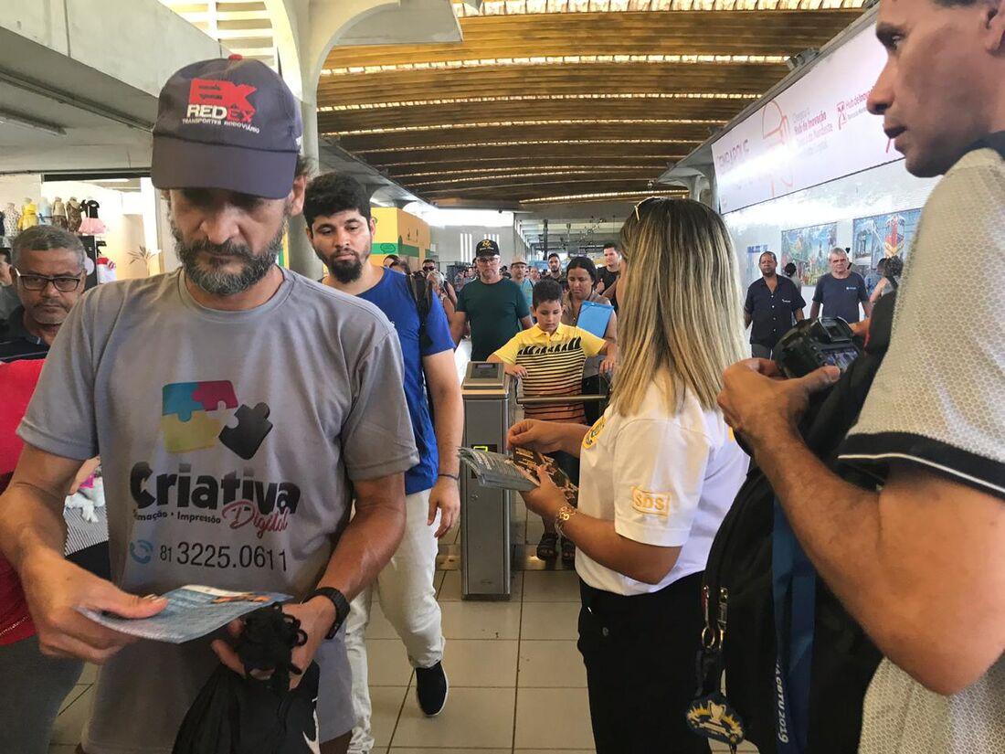 A ação acontece na Estação Recife, no bairro bairro de São José