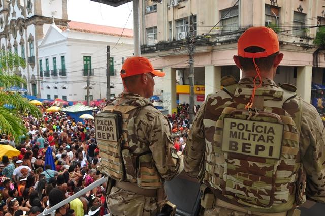 Segurança durante o Carnaval de Pernambuco em 2020