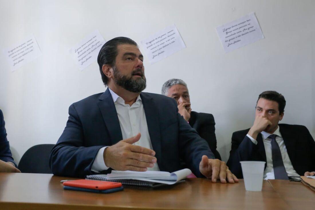 Audiência do Procon sobre as falhas do Metrô – Secretaria de justiça. /  Na foto : Walter Frederico Neukranz - Advogado do Metrô Recife.  //