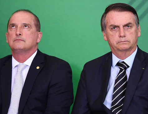 Presidente Jair Bolsonaro e o ex-ministro da Casa Civil, Onyx Lorenzoni