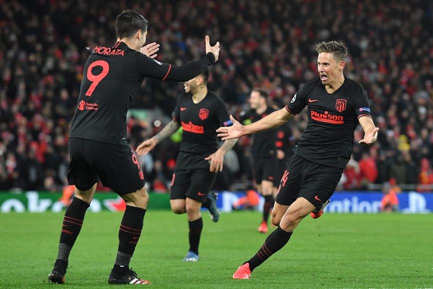 Atletico comemora classificação na Champions