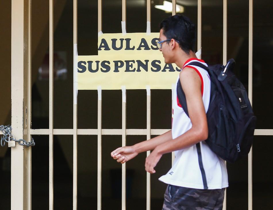 Aulas foram suspensas em algumas escolas