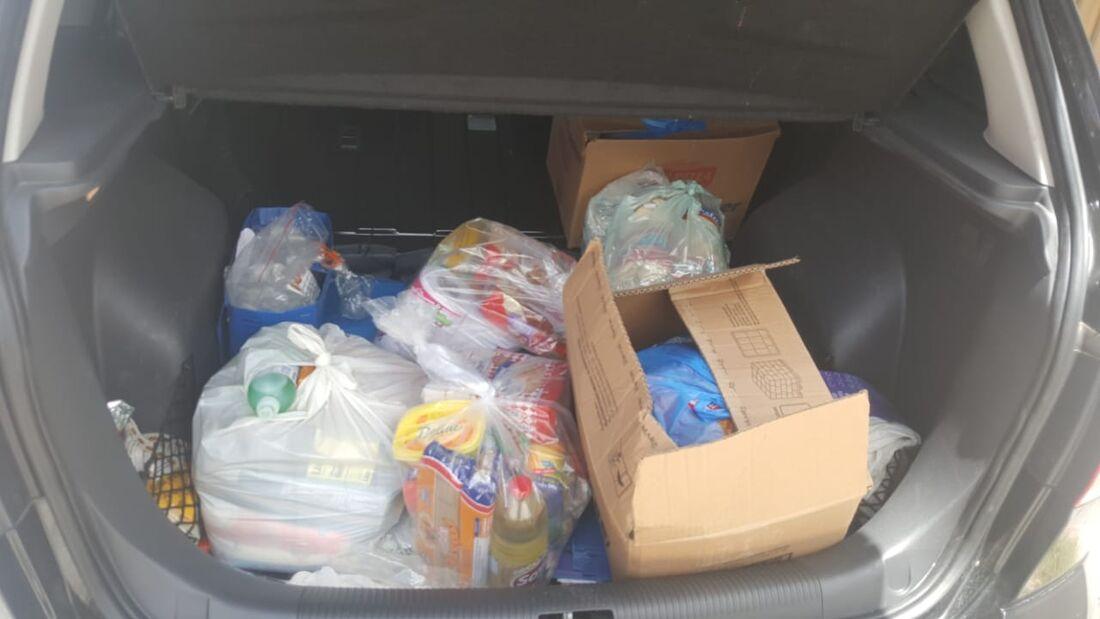 Parte das doações arrecadadas na ação do Detran-PE