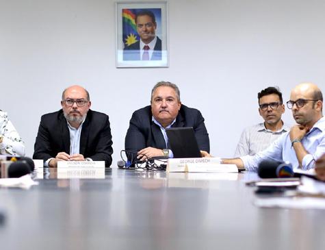 Coletiva de imprensa na Secretaria Estadual de Saúde de Pernambuco (SES-PE) sobre os casos de coronavírus no estado