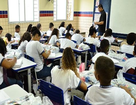 Sala de aula de escola estadual