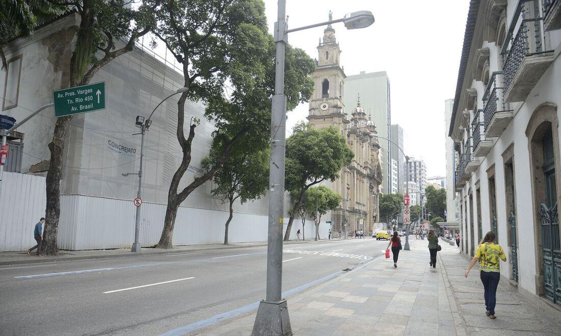 Ruas do Rio de Janeiro vazias