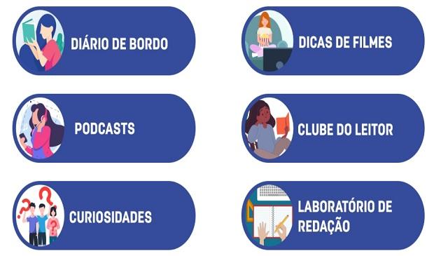 Plataforma de atividades disponibilizada pela Secretaria de Educação e Esportes