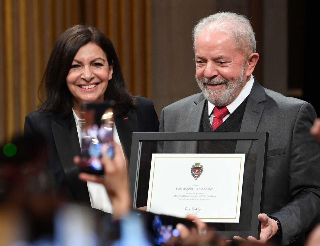 Lula ao receber título de cidadão honorário de Paris