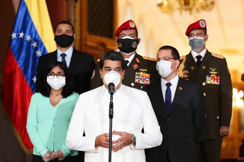 Nicolás Maduro durante pronunciamento sobre a Covid-19
