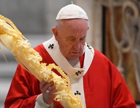 Papa Francisco celebrou Domingo de Ramos sem fiéis