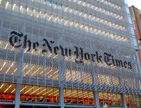 Fachada do New York Times