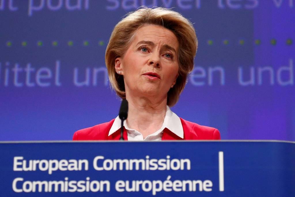 Presidente da Comissão Europeia, Ursula von der Leyen. Presidente da Comissão Europeia, Ursula von der Leyen